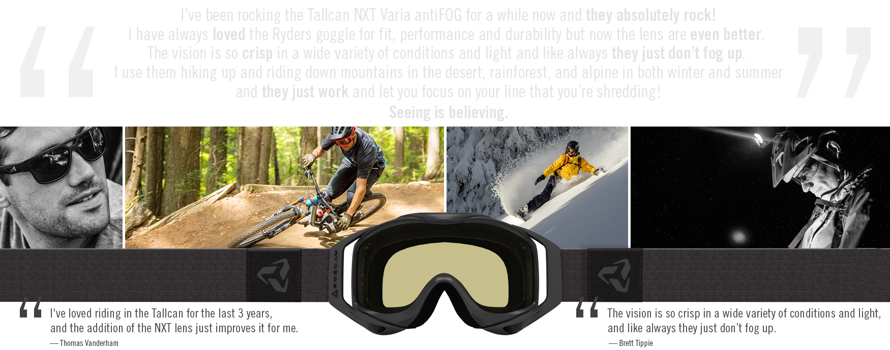 NXT Varia antiFOG Goggles. 3 in 1 Lens Tech for Riding, Skiing, or Snowboarding.